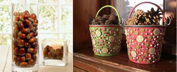 Как украсить дом осенью: вазы с натуральным декором