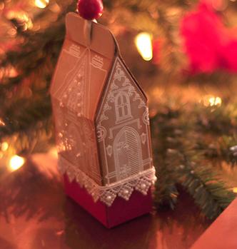 Рождественские домики из бумаги