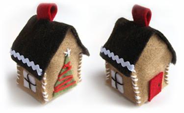 Рождественские домики из фетра фото