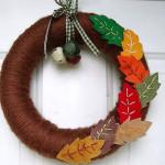 Фото 11: Осенний веночек из ткани