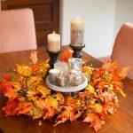 Фото 24: Осенний венок на столе