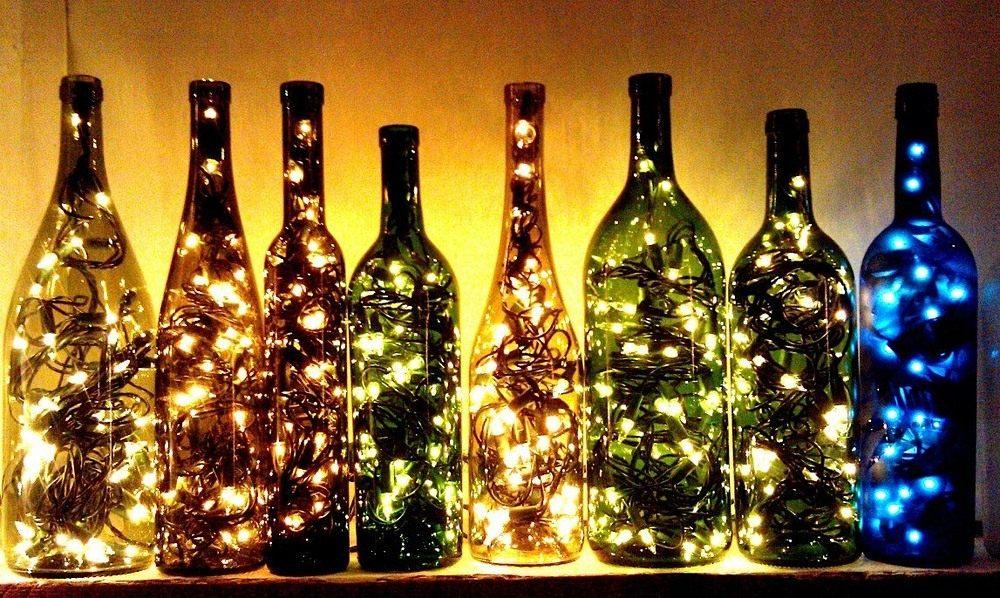 Гирлянды в бутылках
