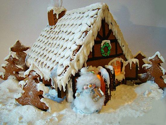 Рождественский домик своими руками фото