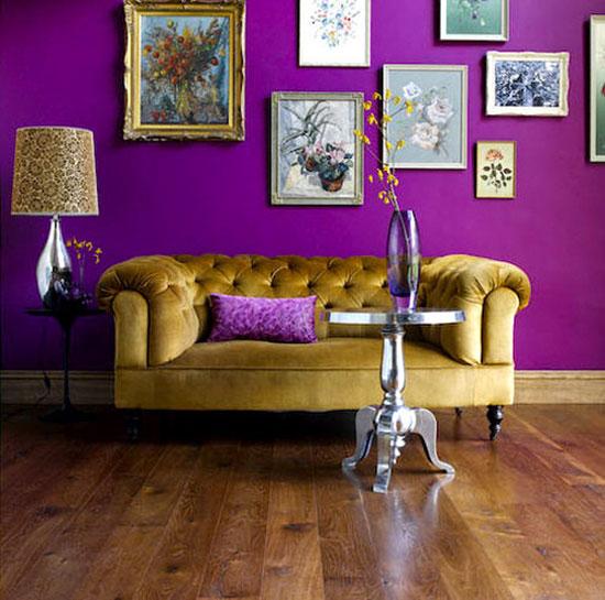 Темно-фиолетовый цвет в интерьере