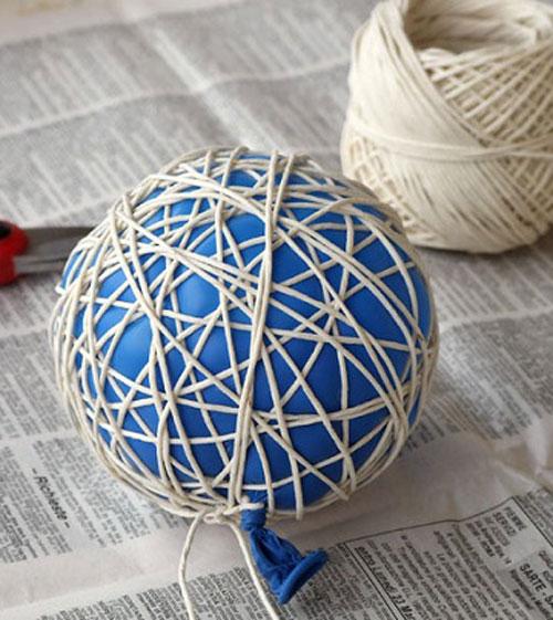 Как сделать абажур из ниток своими руками