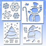 Фото 78: Новогодние трафареты для рисунков на окне