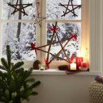Фото 79: Звездочки из палочек для украшения окна