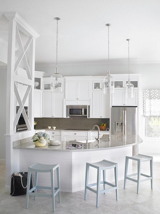 Кухня-столовая в морском стиле фото