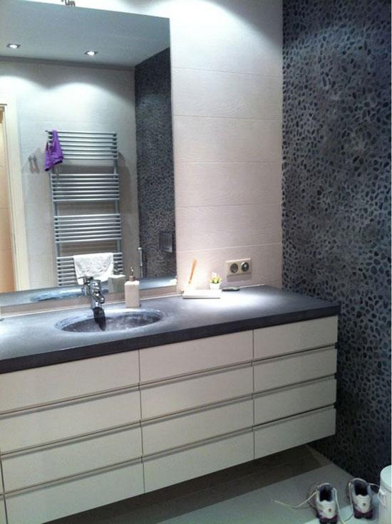 Галька в интерьере ванной комнаты