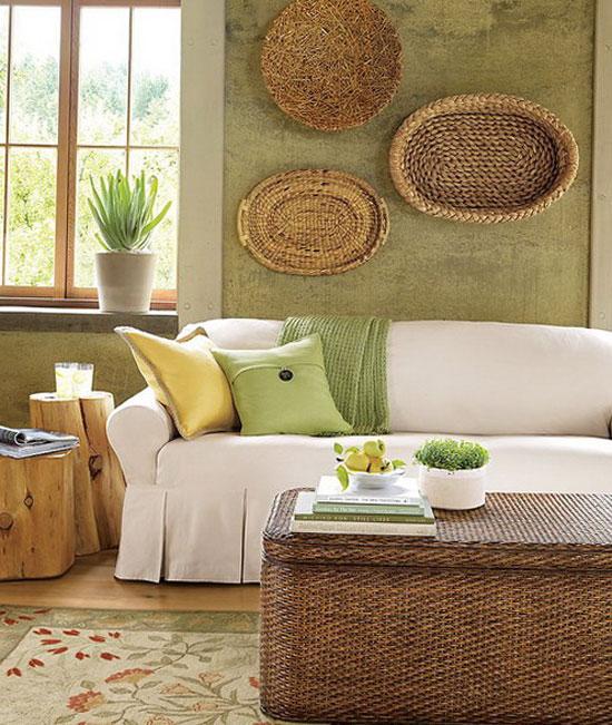 Болотный цвет в интерьере гостиной комнаты