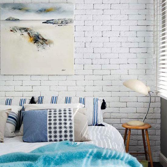 White-Brick-Wall-Bedroom-Spanish-House