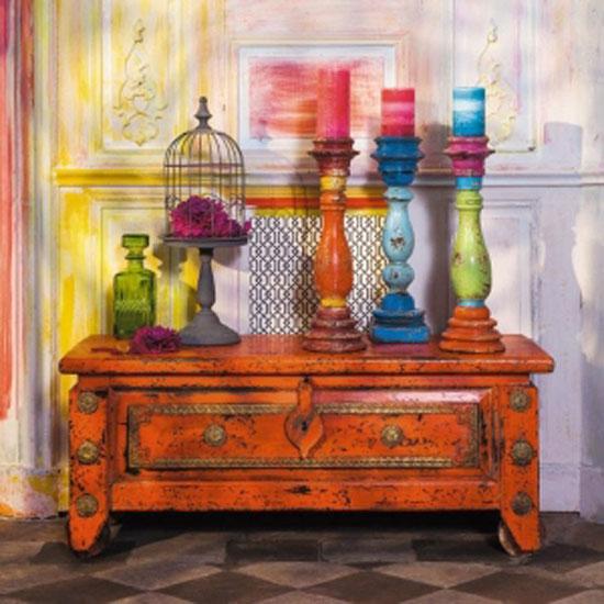 Мебель в интерьере бохо