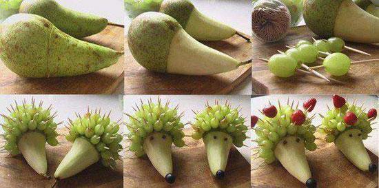Красивые фигурки из фруктов для детского стола