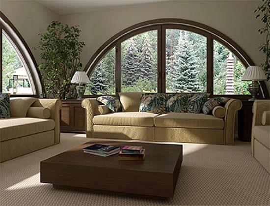 Арочные окна в интерьере: фото