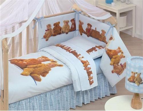Детская кровать с тремя мягкими бортиками