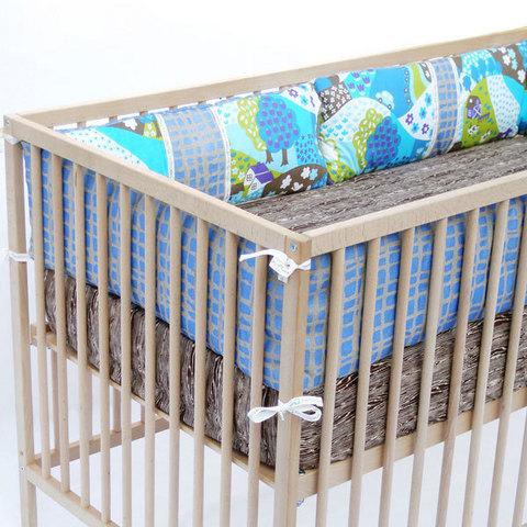 Раздвижная детская кровать с бортиками