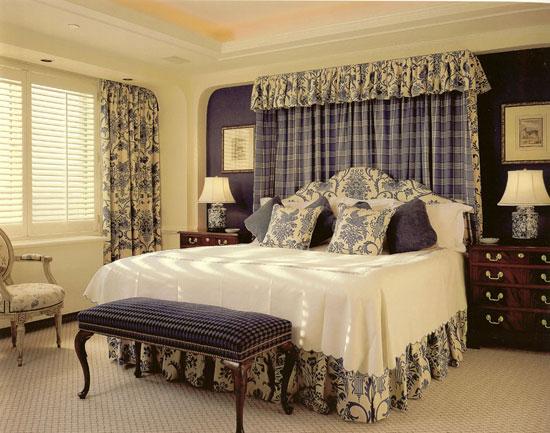 Применение штор на кулиске в интерьере спальни
