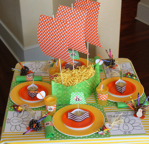 Как украсить детский стол к празднику фото