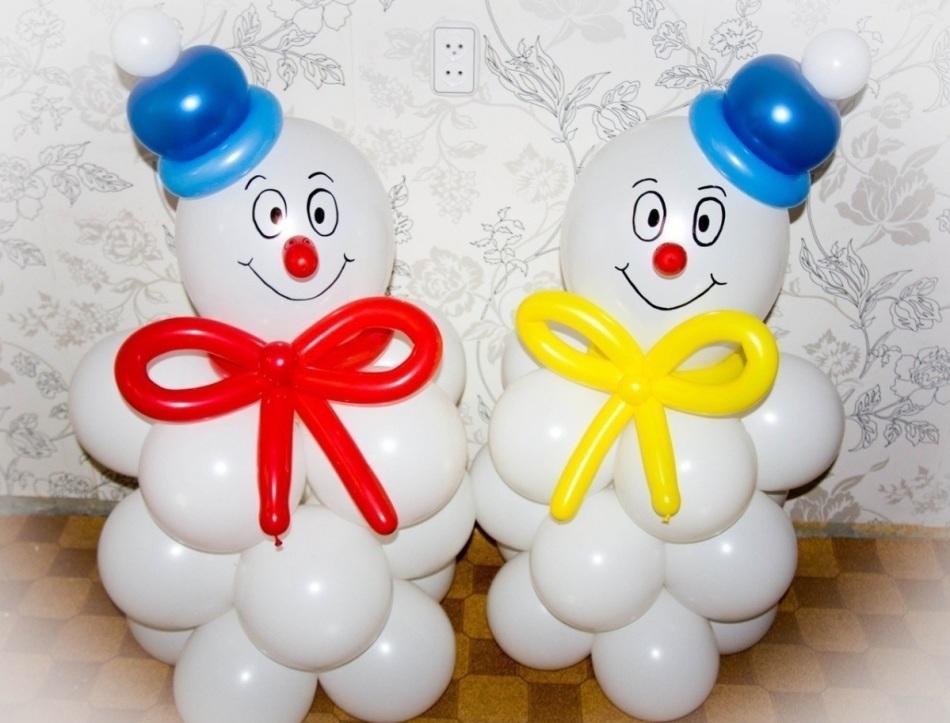Снеговики из воздушных шариков