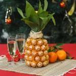 Фото 17: Новогодний декор бутылки ананас