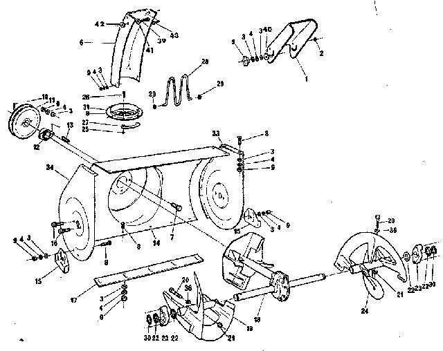 Снегоуборочная машина в деталях на схеме