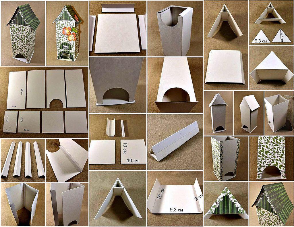 Как сделать чайный домик из коробки своими руками