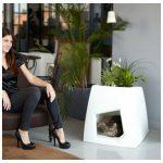 Фото 55: Домик для кошки - цветочный горшок