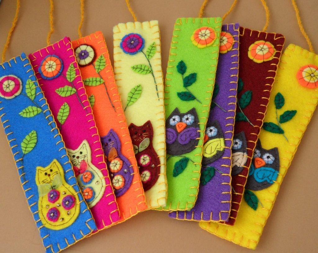 Фетровые закладки