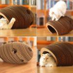 Фото 74: Лежанка для кошки из гофрокартона