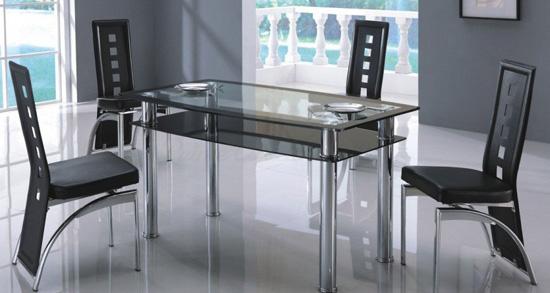 Стиль техно в интерьере гостиной-столовой