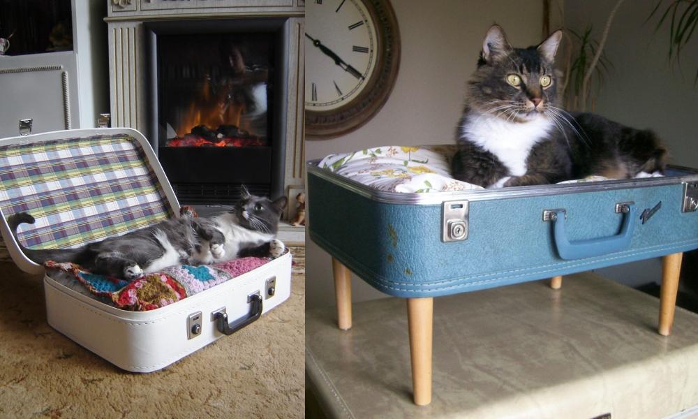 Винтажная лежанка для кошки