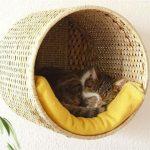 Фото 64: Лежанка для кошки своими руками из корзины