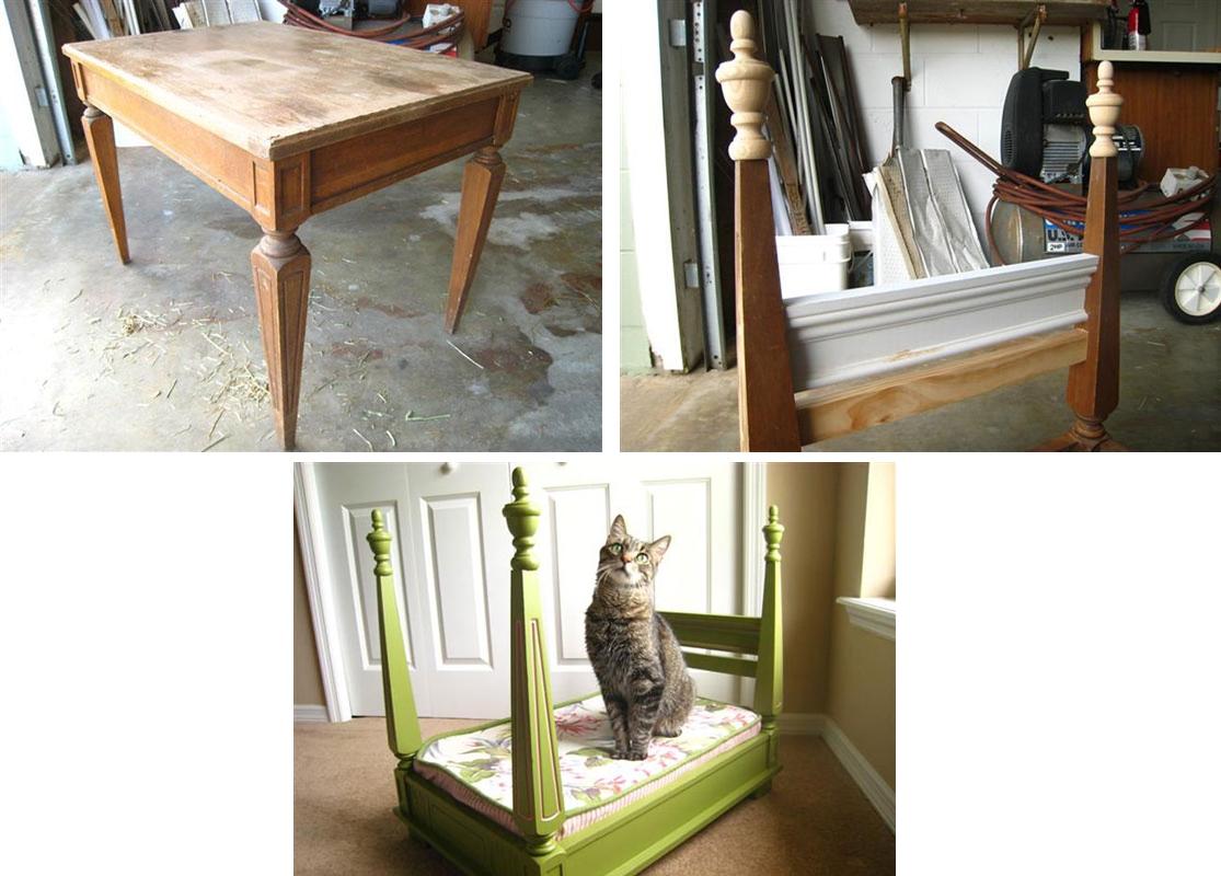 Королевская кроватка - лежанка для кошки своими руками