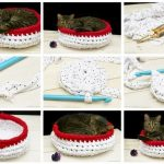 Фото 79: Вязаная лежанка для кошки