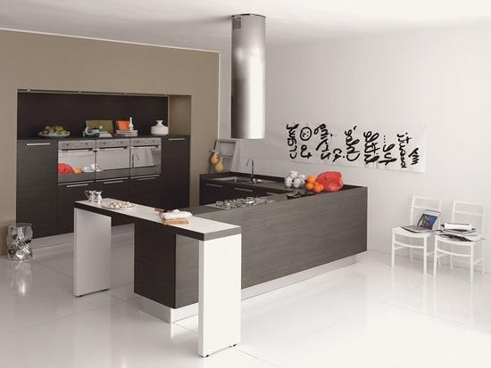 Кухня в стиле минимализм со столешницей из ДСП
