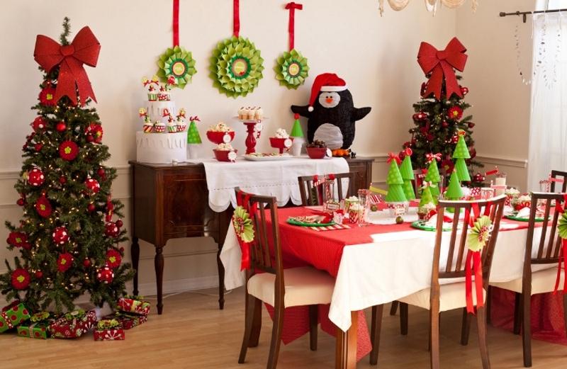 Новогоднее украшение дома своими руками