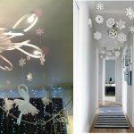 Фото 38: Новогоднее украшение дома снежинками