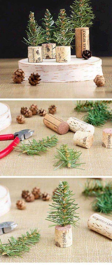 Новогодний декор елочка в пробке