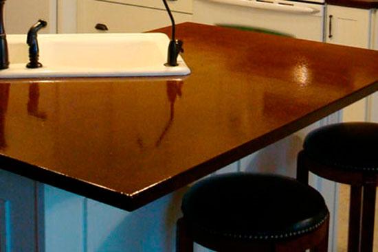 Глянцевая кухонная столешница из ДСП