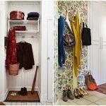 Фото 36: Вешалки вместо шкафов для узкой прихожей