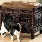 Фото 65: Плетеный кошачий домик