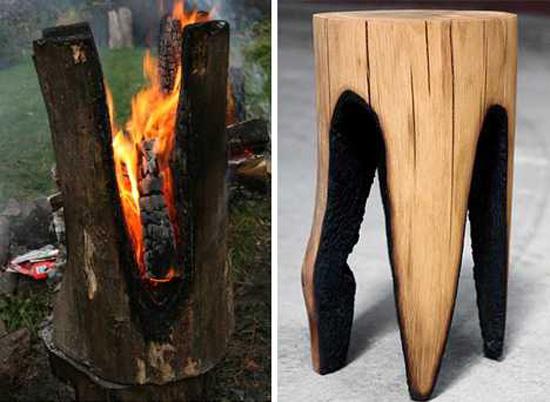 Необычный способ изготовления декора из дерева в интерьере