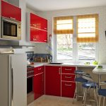 Фото 48: Использование стола вместо подоконника на кухне