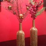 Фото 13: новогодняя композиция в вазе с ветками