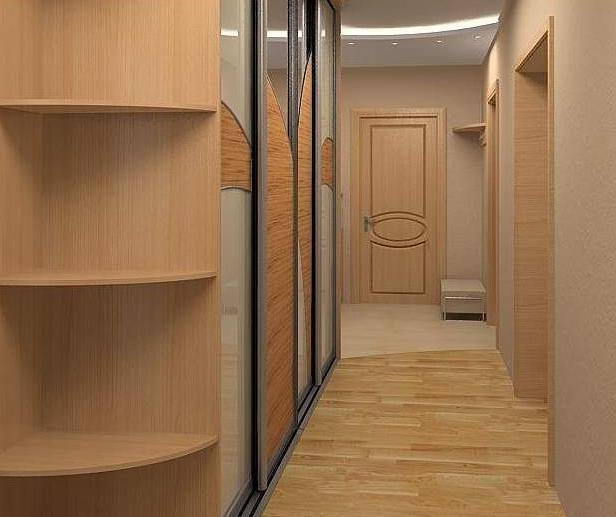 Светлая прихожая для узких коридоров
