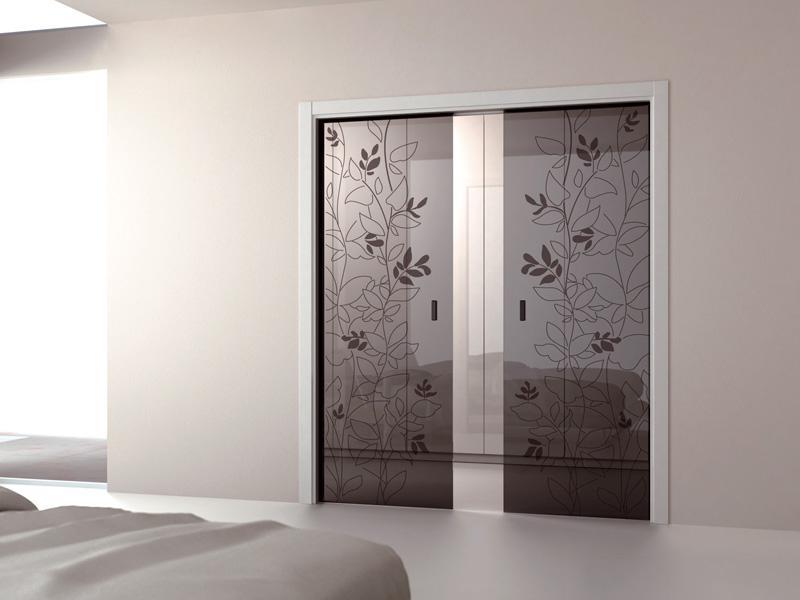 Раздвижные двери с цветами