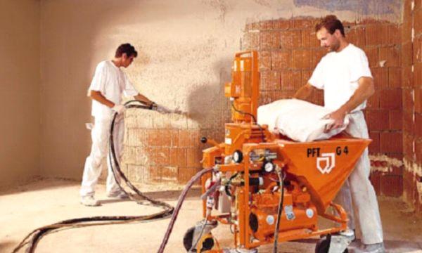 аппарат для механизированного нанесения штукатурки