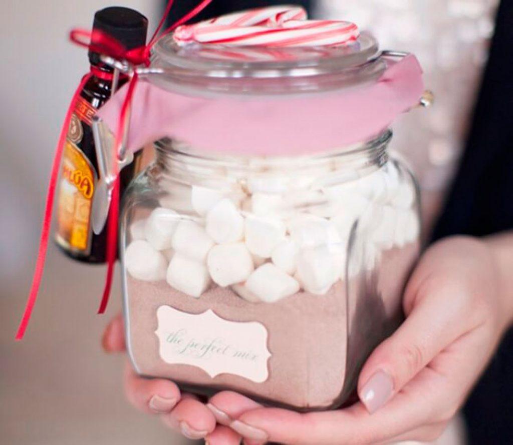 Новогодний подарок Набор для какао в баночке