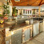 Фото 39: Летняя кухня - барная стойка