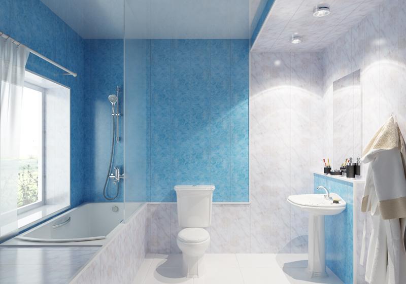 Комбинирование ПВХ-панелей в ванной комнате